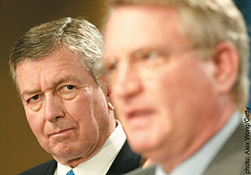 John Walters (fore) with Attorney General John Ashcroft