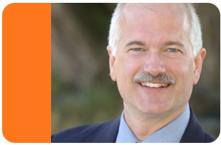 NDP leader Jack Layton: says he doesn`t believe in anti-pot laws.