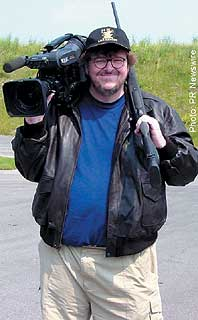 Michael Moore: not running for Prez so he won`t get shot.