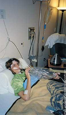 Angel McClary Raich: vapourizing in the hospital.