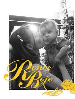 Renee Boje with baby Shiva