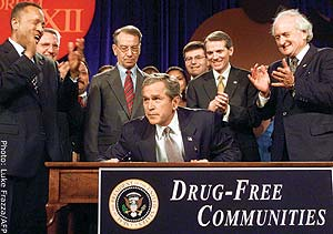 Bush and his cronies: drug war propagandists.