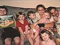Christina Mantooth with her husband and four children.