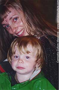 Renee Boje with son Shiva