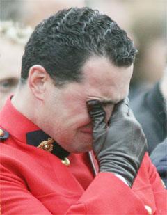 Royal Canadian Mounted Police officier Lee Johnston