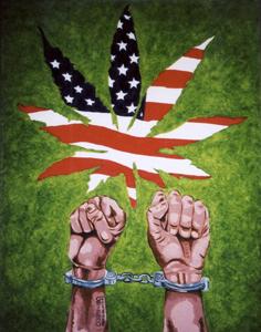 Painting by JAMES MOORE, US Drug War Prisoner, Texas