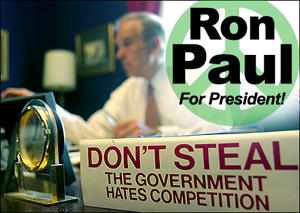 Ron Paul takes nothing and gives everything