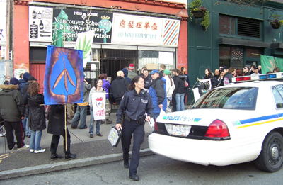 The Herb School raid and protest on February 20, 2008