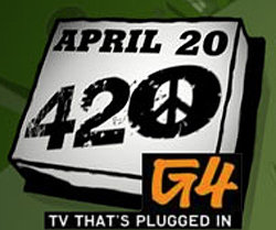 G4 TV is plugged into 420