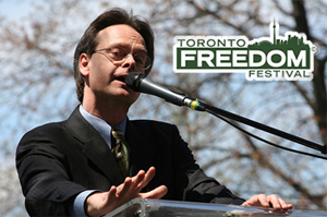 Marc Emery speaking in Toronto, 2007. Photo by TysonWilliams.com