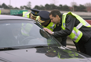 Police check for impaired driving in Ontario (Frank Gunn/Canadian Press)