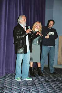 "Tommy, wife Shelby, and director Josh Gilbert at the Vancouver screening of ""AKA Tommy Chong"", 2006"