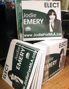Jodie's election signs