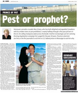 Part 1 of the Province newspaper feature