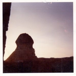 The Sphinx at dusk