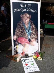 A memorial protest was held for Marilyn Holsten on Sept 2, 2009. (Click pictures to enlarge - Photos by Jeremiah Vandermeer)