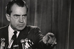 "President Richard Nixon, who was the first to use the term ""war on Drugs""."