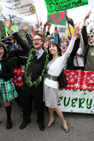 Marc and Jodie at the Global Marijuana March in Toronto. (Photo by High Times)