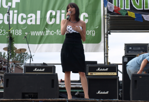 Jodie Emery speaking onstage at Seattle Hempfest 2009. (Photo by Jeremiah Vandermeer - click to enlarge)