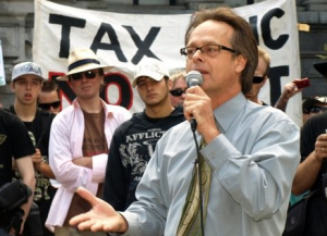 Marc Emery at 'The Worldwide Rally For The Prince of Pot' on September 19, 2009 - where 130 cities around the world held protests to call for Marc's freedom. (Photo by Jeremiah Vandermeer)
