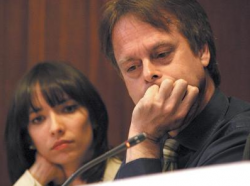 Marc Emery and his wife and Jodie attend a 2009 hearing at Vancouver City Hall.