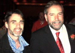 Cannabis Champion Matt Mernagh with new NDP Leader Thomas Mulcair at the party's weekend leadership convention.