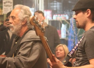 "Adam Bowen jamming with Tommy Chong at the BCMP's ""Jams in the Key of Green"". Click here for video."