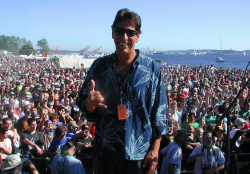 Activist Steve Kubby, co-author of a new legalization bill for California, at Seattle Hempfest.