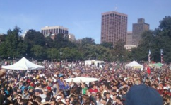 From the stage of the Boston Freedom Rally - Chris Goldstein