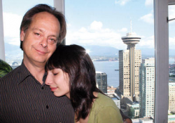 Happier times: Marc and Jodie Emery at home in Vancouver before his arrest and imprisonment in the United States.