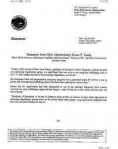 DEA Head Karen Tandy's statement on Marc