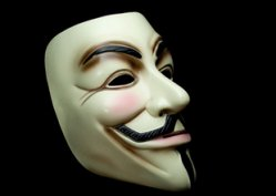 Guy Fawkes mask, from V for Vendetta. (photo: Ben Fredericson at Flickr)