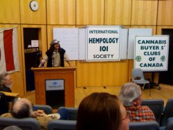 Former Marijuana Party candidate and licensed medical user Mik Mann discusses the difficulties of dealing with health professionals as a med-pot patient at the VIU Hempology 101 Cannabis Convention.