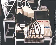 Pneumatic seed sorter, for the serious sorter of seeds.