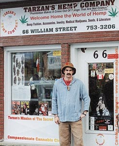 MIke Either in front of Tarzans Hemp Company