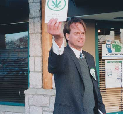 Marc Emery campaigning on the street - photo: Marcy Beth Gersh