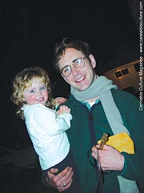 Ken Hayes with daughter: also charged for med-pot.