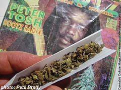 Peter Tosh: Music and marijuana.