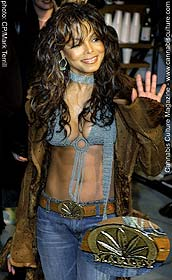 Janet Jackson: paying homage to Rasta culture with her buckle.