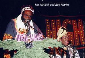 Ras Melnick and Rita Marley