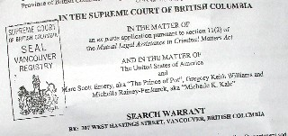 The BCMP search warrant