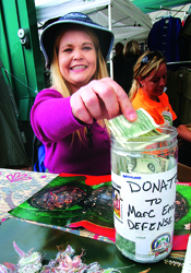 Collecting donations for Marc Emery at Seattle Hempfest