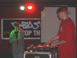 DJ Rukkus and a rapping emcee