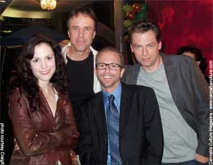 Weeds cast: Mary-Louise Parker, Kevin Nealon, CraigX and Justin Kirk.