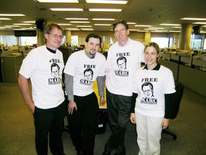 National Post newspaper staff in shirts