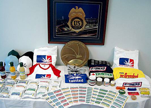 DEA image of Tainted products and promo
